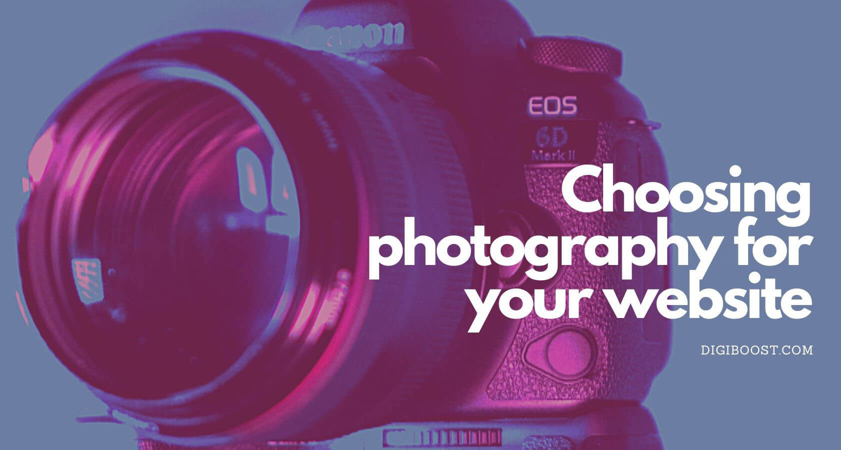 choosing photography for your site
